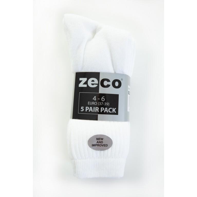White Sports Socks (5 Pack)