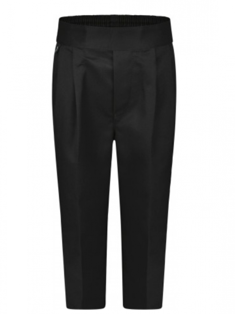 Boys Black Pull On Trousers