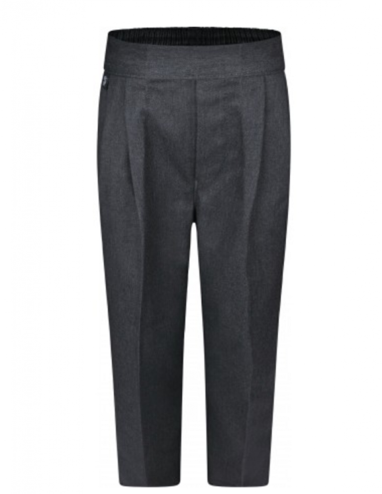 Boys Grey Pull On Trousers