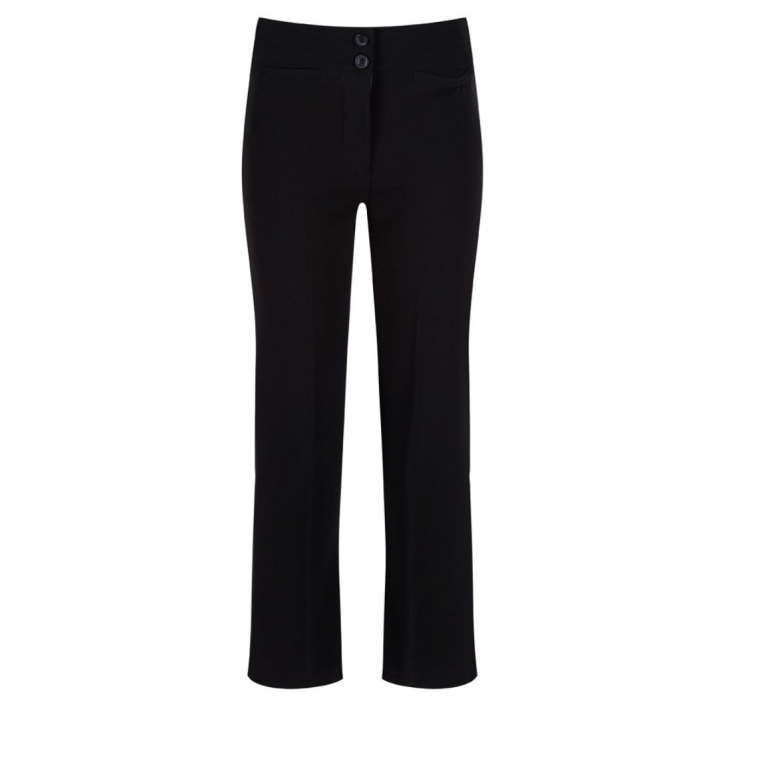 Trutex Junior Girls Twin Pocket Trousers in Black - with Waist Adjuster