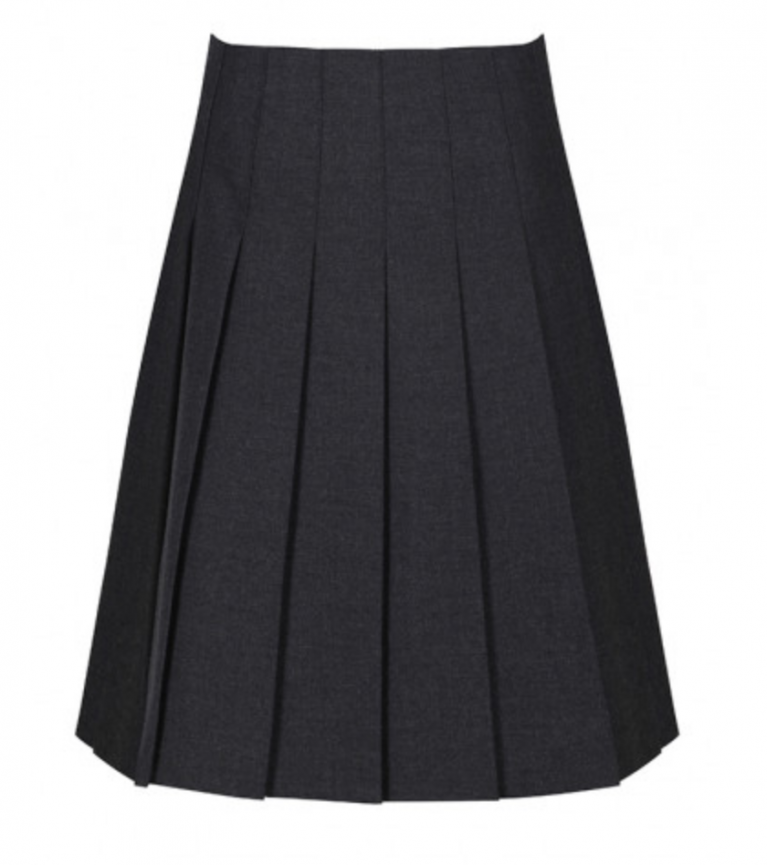 Trutex Junior Stitch Down Pleat Skirt in Harrow Grey