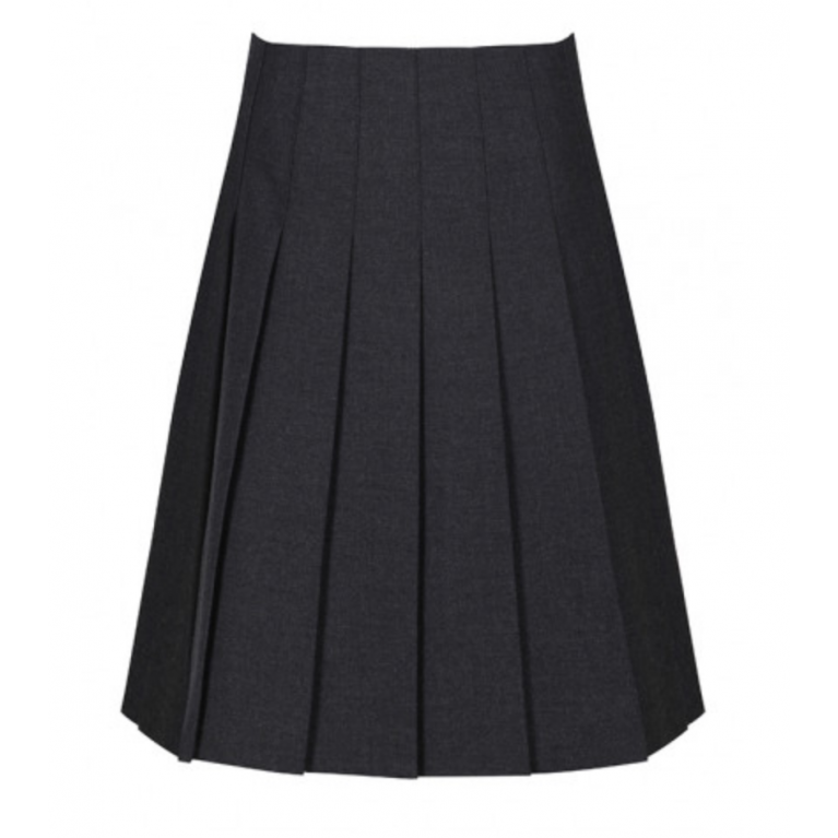 Trutex Senior Stitch Down Pleat Skirt in Harrow Grey
