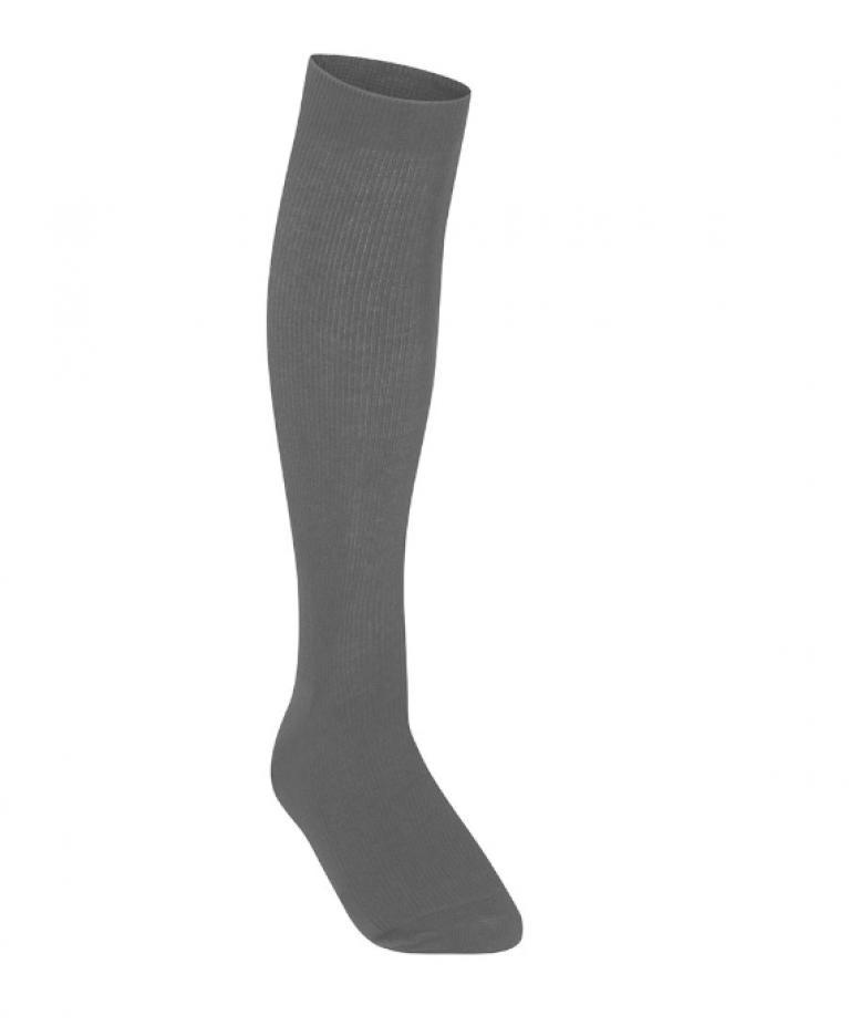 Girls Pack of 3 Grey Knee High Socks