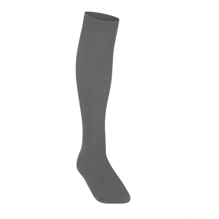 Girls Pack of 3 Grey Knee High Socks