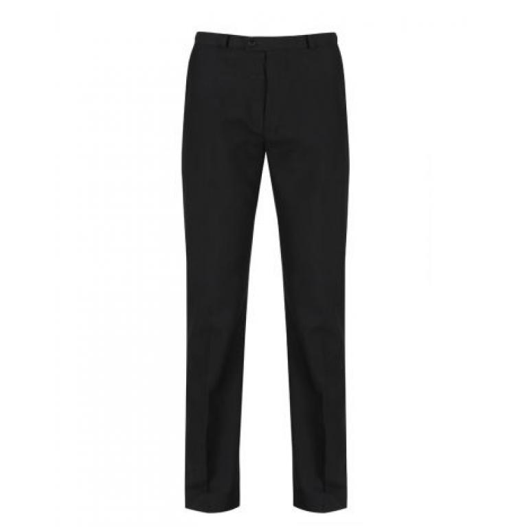 Black Trutex Boys Senior Flat Front Trousers