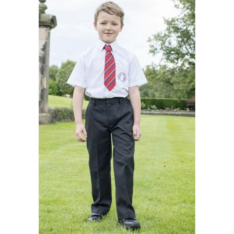 Charcoal Trutex Junior Boys Trousers  - Classic Fit