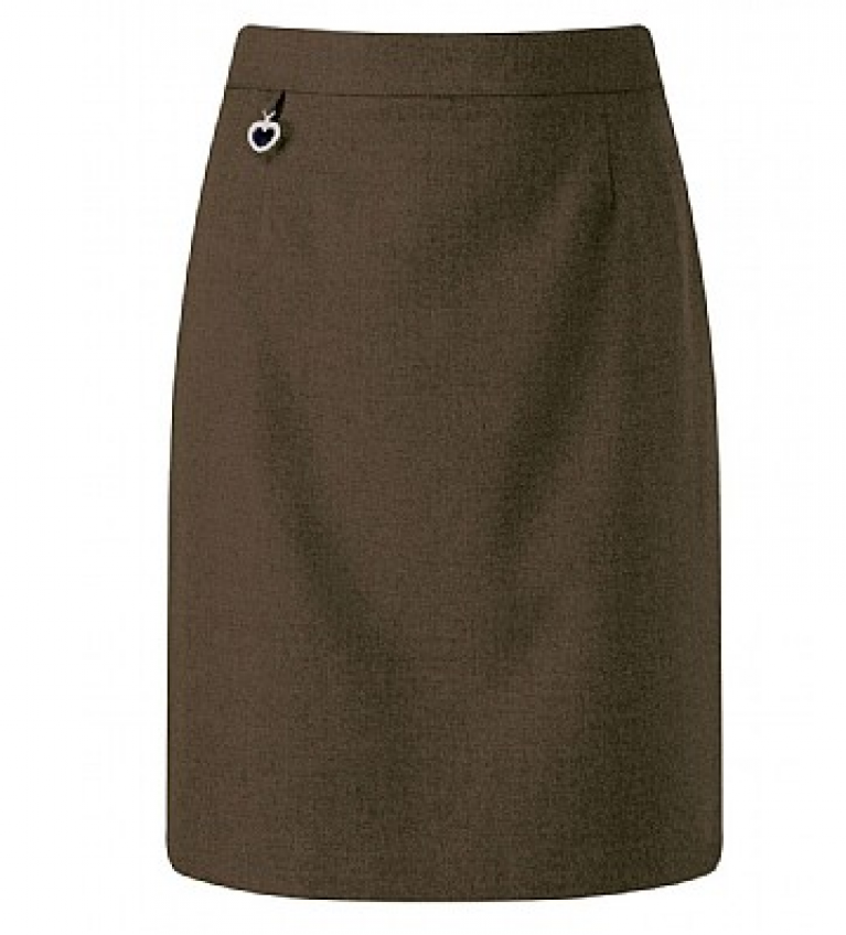 Girls Amber Skirt in Brown