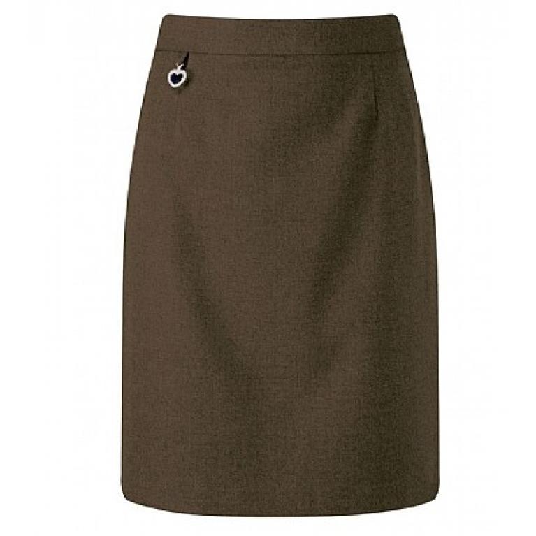 Girls Amber Skirt in Brown