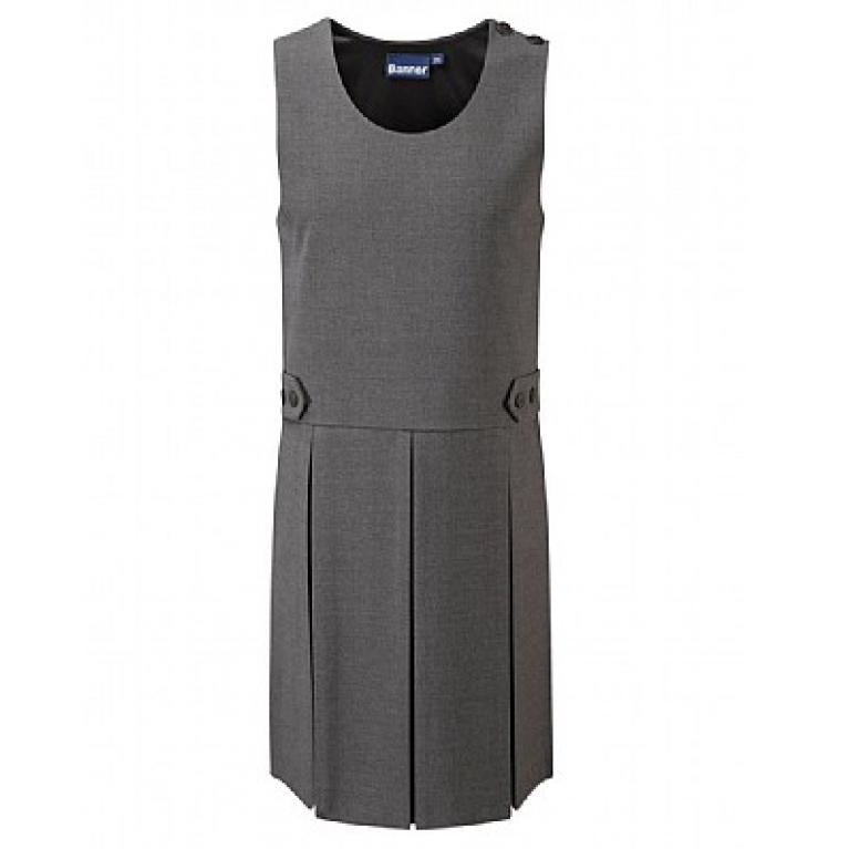 Girls Grey Tenby Pinafore