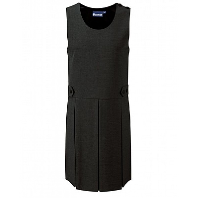 Girls Tenby Pinafore in Black