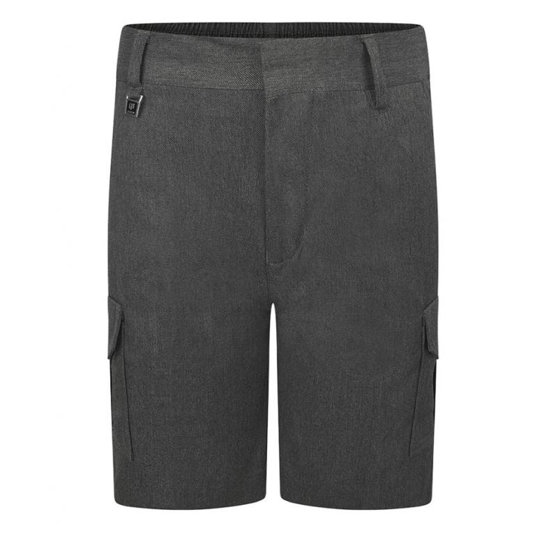Boys Grey Cargo Shorts