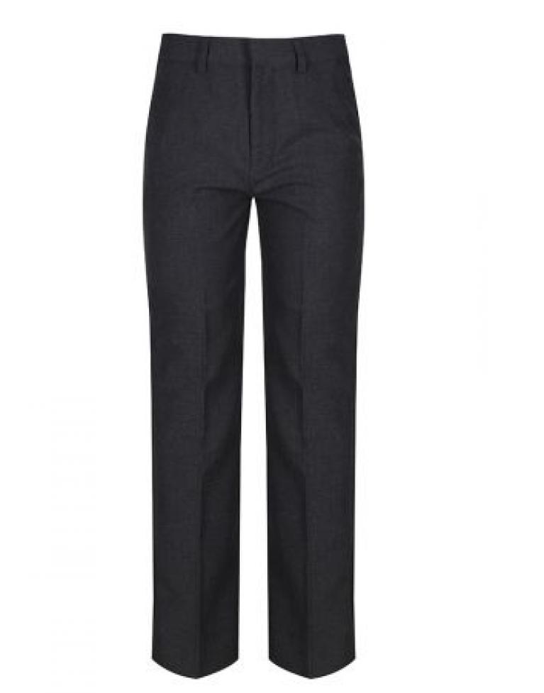 Grey Trutex Junior Boys Trousers  - Classic Fit