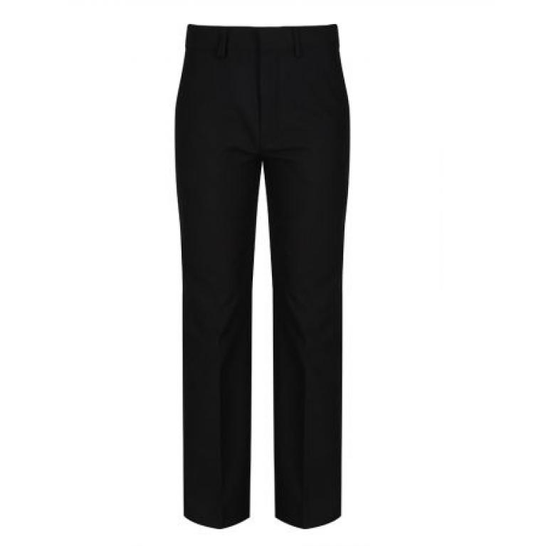 Black Trutex Junior Boys Trousers  - Classic Fit