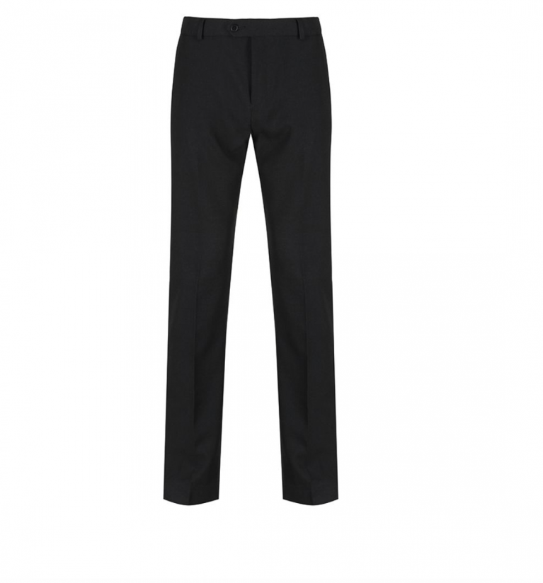 Black Trutex Junior Boys Trousers  - Slim Fit