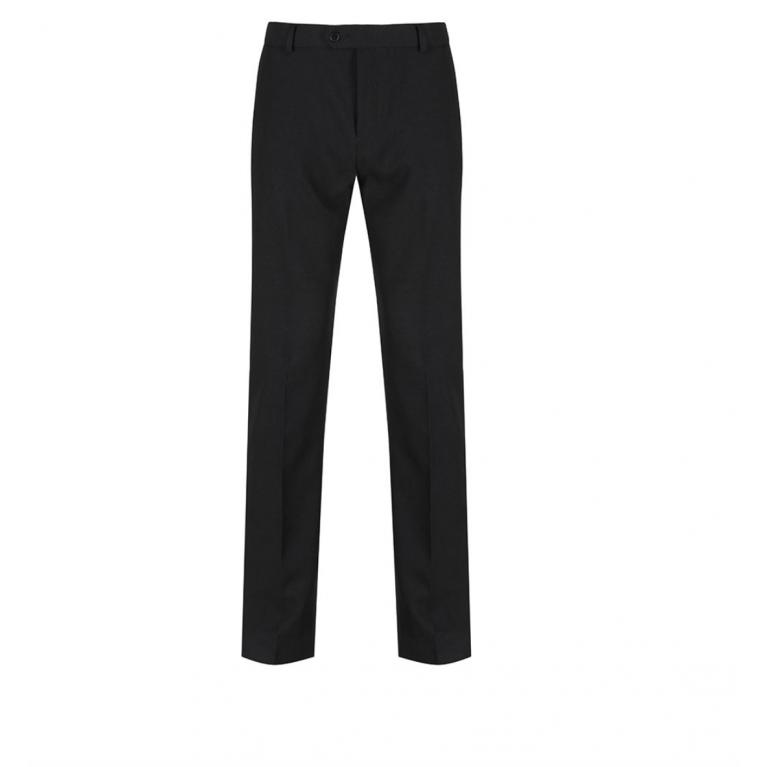 Black Trutex Junior Boys Trousers  - Slim Fit