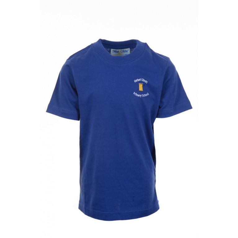 Blue P.E T-shirt - with logo