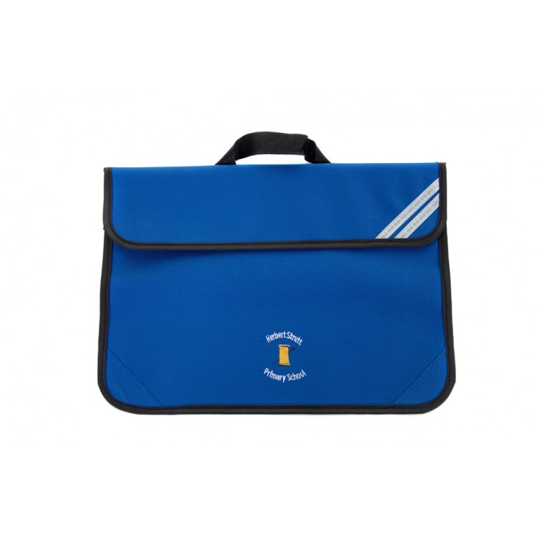 Blue Short Handle Bookbag