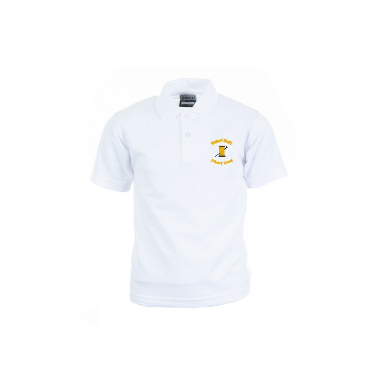 White Heavyweight Polo Shirt