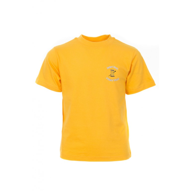 Yellow P.E T-shirt - with logo