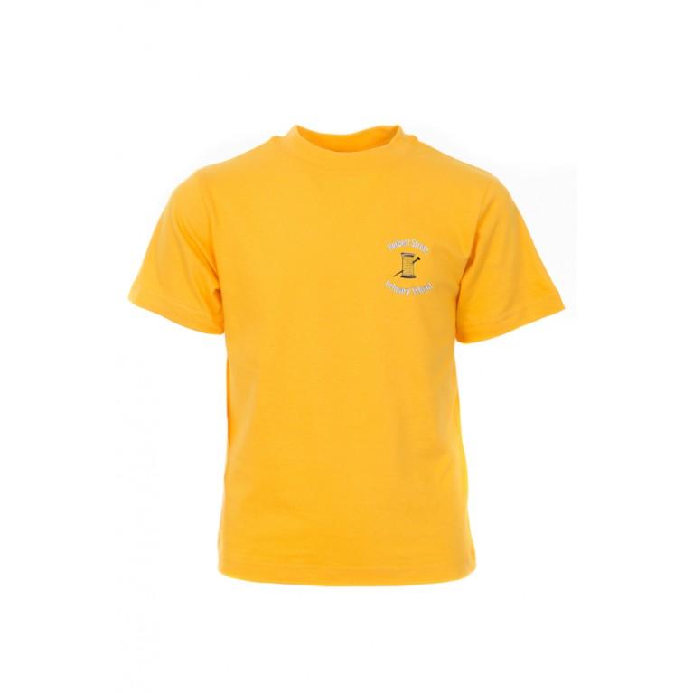 Yellow P.E T-shirt - with logo