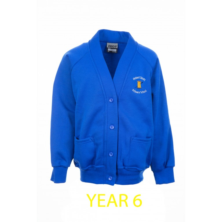Year 6 Blue Cardigan