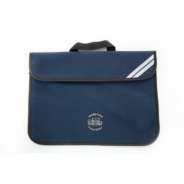 Navy Short Handle Bookbag