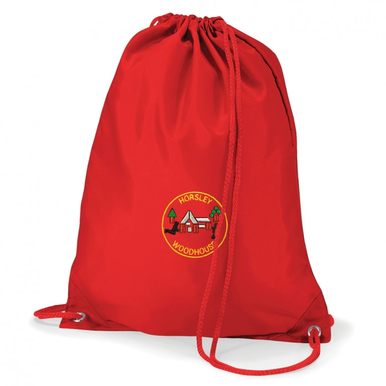 Red Logo P.E Bag