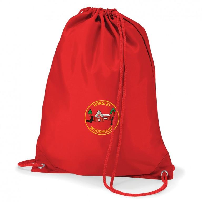 Red Logo P.E Bag