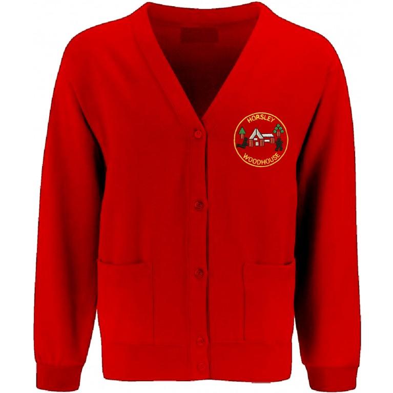 Red 70/30 Cardigan