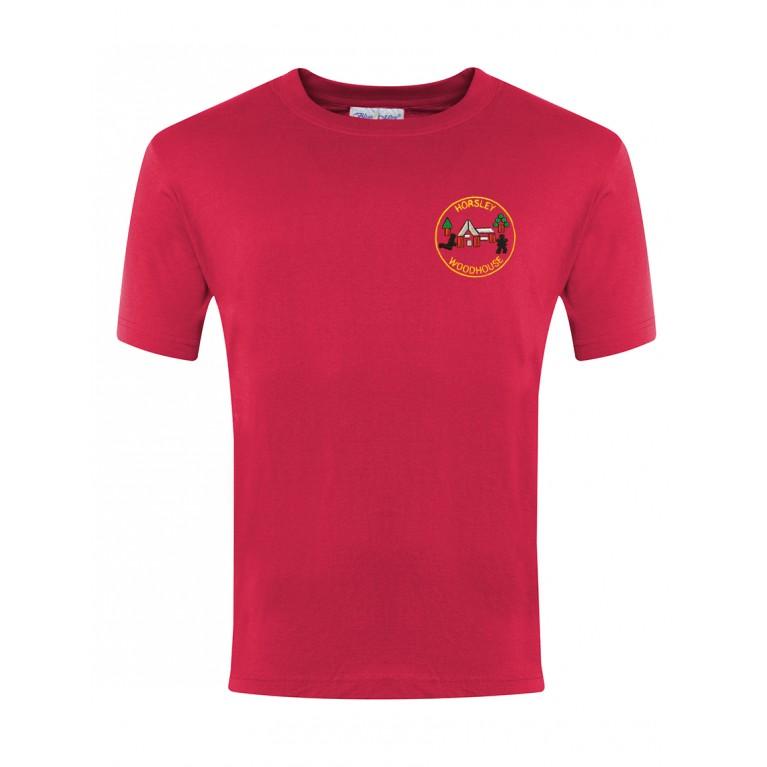 Red P.E T-shirt