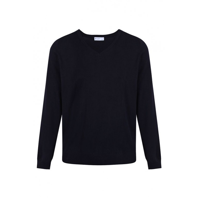Navy Cotton Blend Jumper