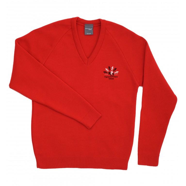 Scarlet Knitted V Neck Jumper