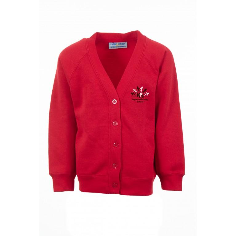 Red Classic Cardigan