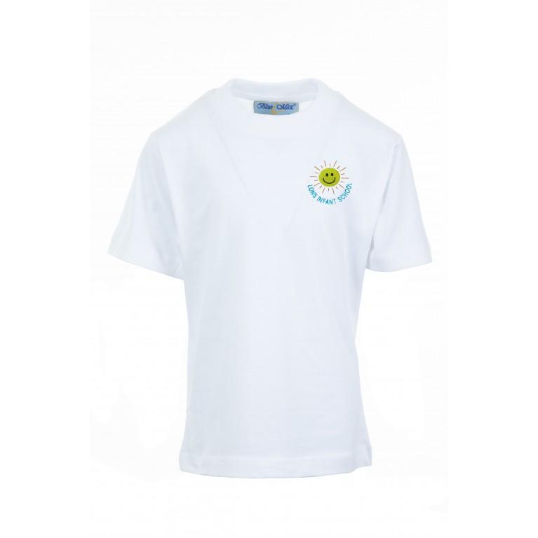 White P.E T-shirt