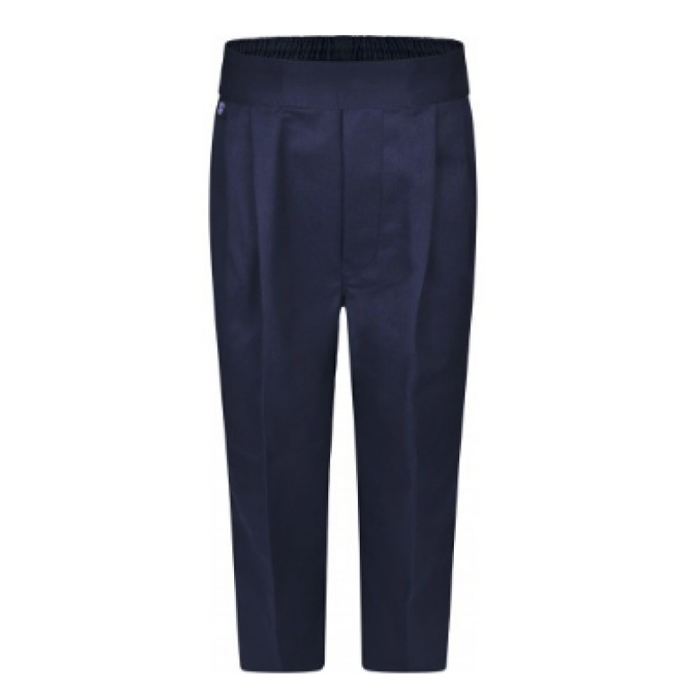 Boys Navy Pull On Trousers