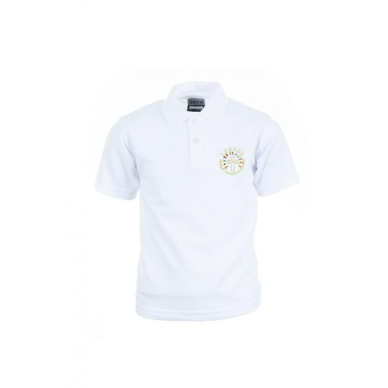 White Heavyweight Polo Shirt