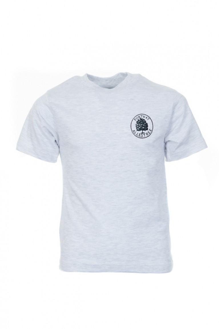 Grey P.E T-shirt - with logo