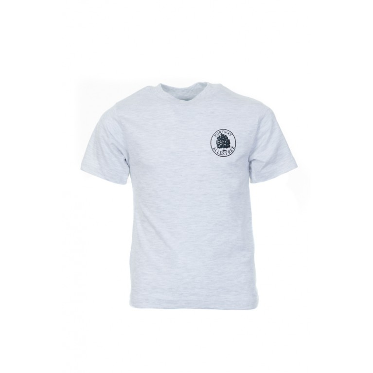 Grey P.E T-shirt - with logo