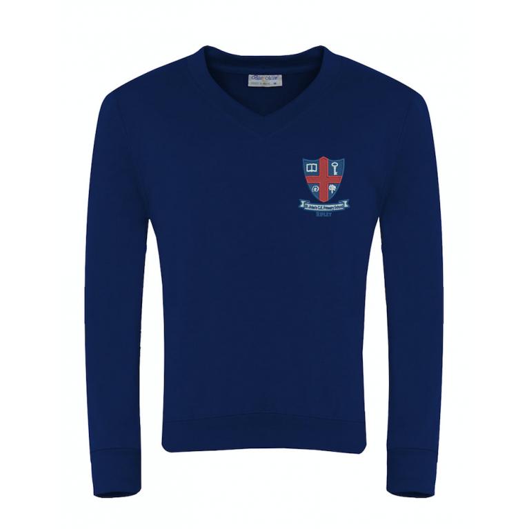 Navy Select V Neck Sweatshirt