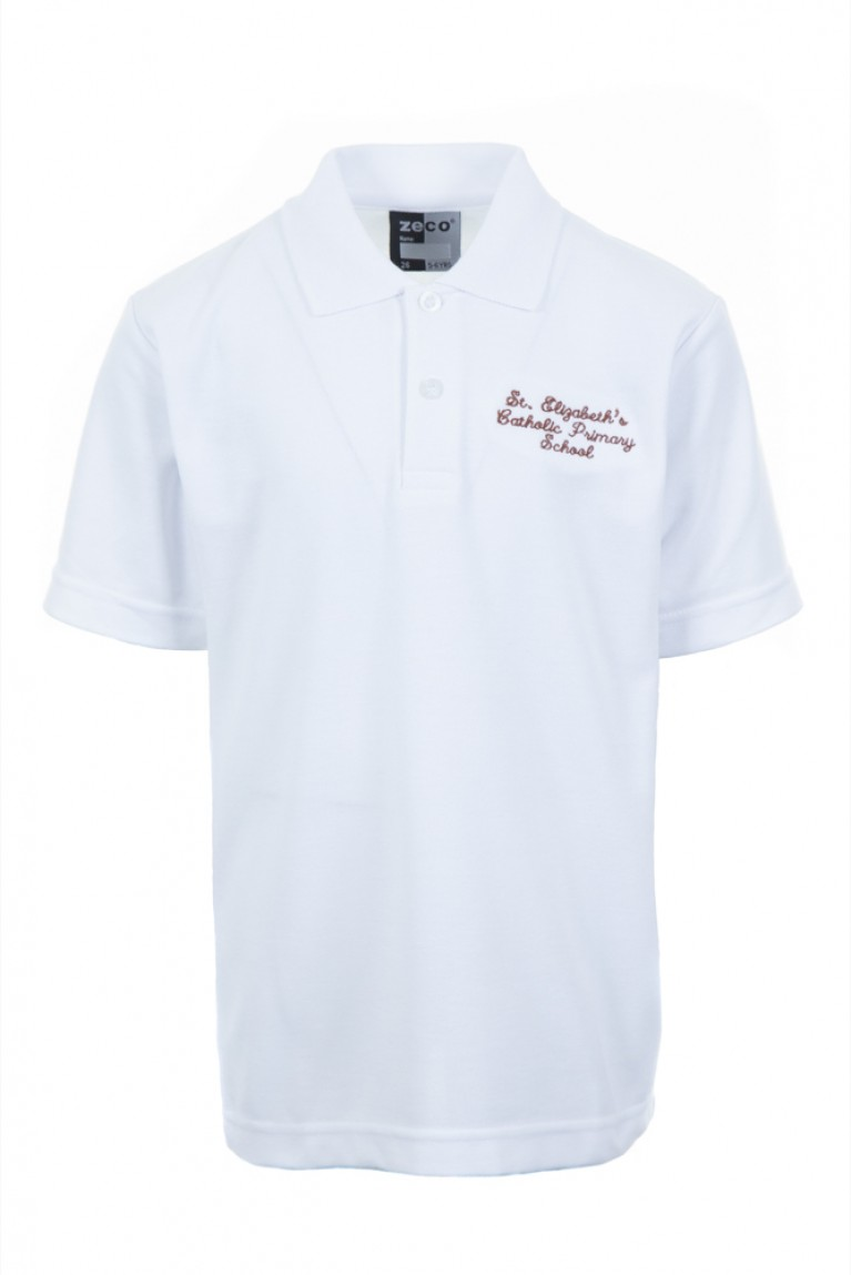 White Heavyweight Polo Shirt For Reception Only