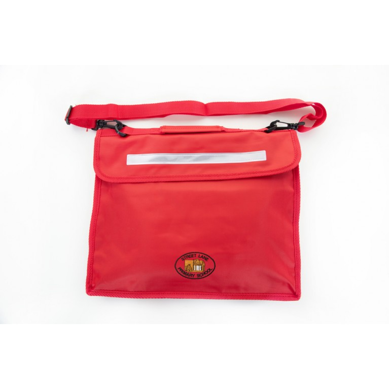 Red Long Handle Bookbag
