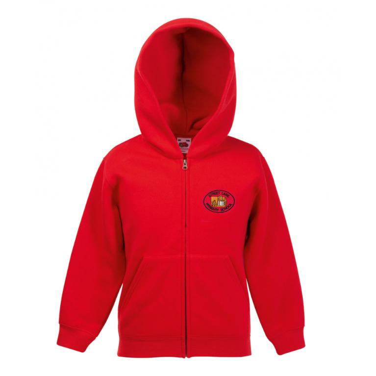 Red Zip Hoodie