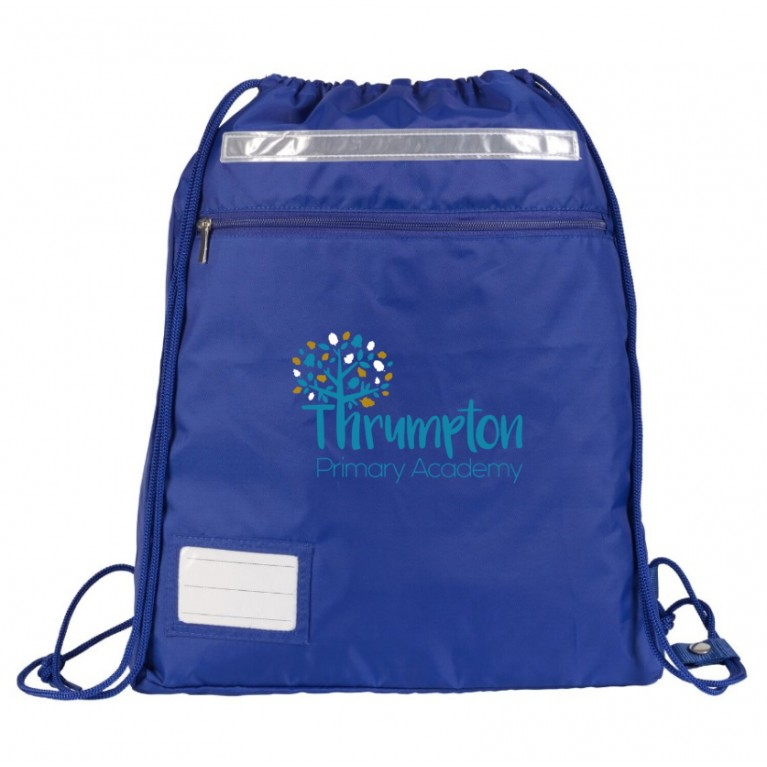 Blue Kit Bag with logo