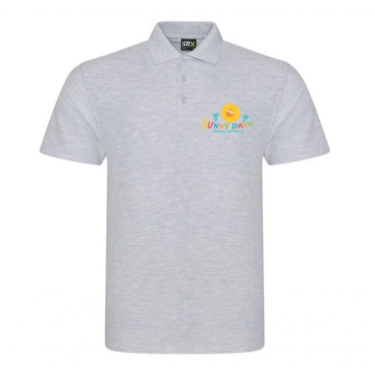 Staff Grey Polo Shirt (printed)