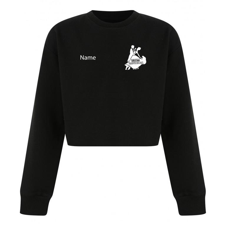 Black Cut Off Sweater