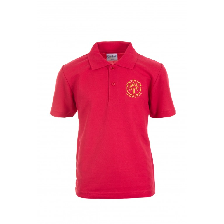 Red Heavyweight Polo Shirt