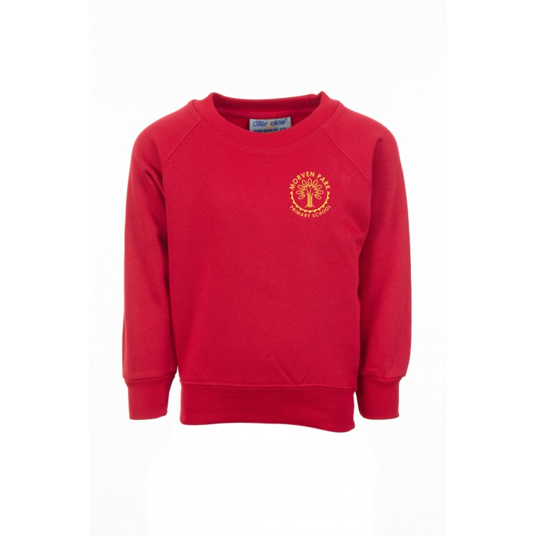 Red Classic Crew Neck Sweatshirt