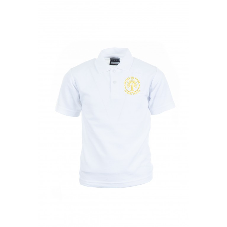 MOR White Heavyweight Polo Shirt